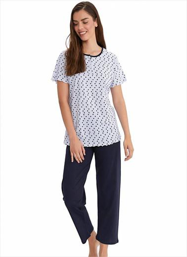 Ayyıldız Pijama Takım Beyaz